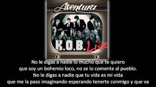 Aventura - Mi Corazoncito (lyric - letra)