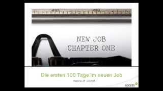 Die 100 Ersten Tage Im Job