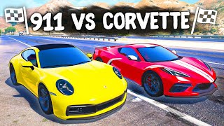 PORSCHE 911 vs CORVETTE C8! КТО КОГО? - ТЮНИНГ БИТВА: GTA 5 ONLINE