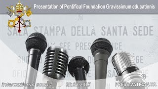 2017.09.22 - Press Conference presentation of Pontifical Foundation Gravissimum educationis