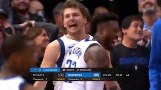 Amazing Luka Dončić vs James Harden and Chris Paul in Clutch! Last 3 Minutes of the Game!