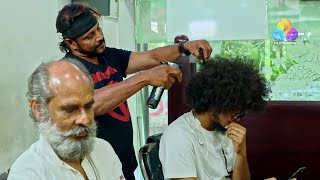 Uppum Mulakum   Hair Cutting │Flowers│EP# 584