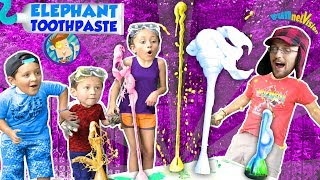 ELEPHANT TOOTHPASTE SCIENCE EXPERIMENT - Science for Kids COLORS FUNnel Vis