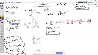 45-45-90 Triangle Practice.webm