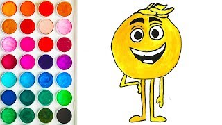 Colorings for Baby with The Emoji Movie, Coloring Step by Step for Babies