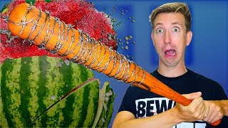 5 The Walking Dead Weapons vs Fruit Ninja