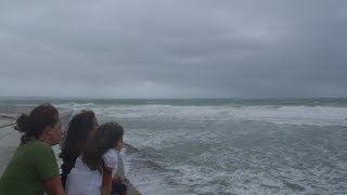 被害甚大沖縄直撃台風8号~2014年7月避難勧告現場から生中継その1