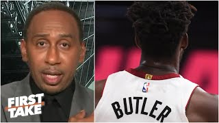 Stephen A. weighs in on the NBA forcing Jimmy Butler to change his nameless jersey | First Take