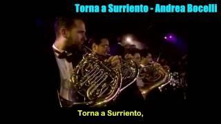 Torna a Surriento Andrea Bocelli Letra