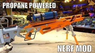 Propane Powered Nerf Blaster!