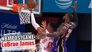 Lebron James Postgame Interview Game 3 Lakers Vs Rockets September