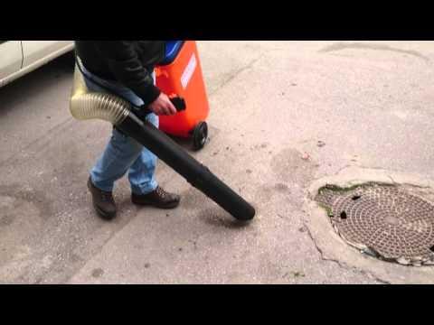 Yaprak ve Çöp Toplama Makinası - Kaldırım ve Yol Süpürme Makinası