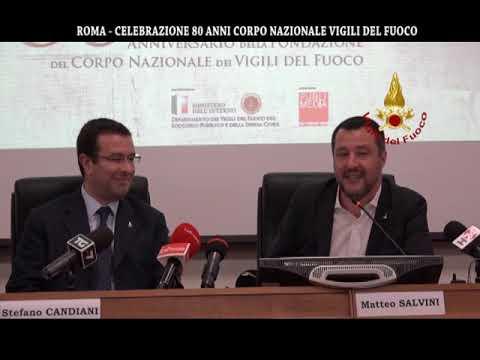 ROMA - CELEBRAZIONE 80 ANNI CORPO NAZIONALE VIGILI DEL FUOCO
