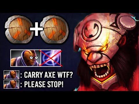 NEW TREND x2 Shield Carry Axe Counter Anti-Mage 11 Min Godlike Imba Gameplay by Tavo 7.22 Dota 2