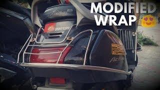 Honda Activa Vinyl Warping Matt Black / Activa Modification