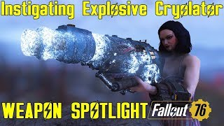 Fallout 76: Weapon Spotlights: Instigating Explosive Cryolator