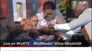 KOFI ADOMA (KOF TV) PRESSES MINISTER'S DAUGHTER'S BR#AST LIVE ON TV #KOFITV