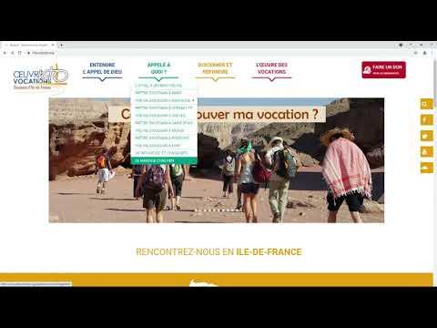 """Le site web """"Ma vocation"""""""