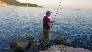 Уса ловля с берега черное море
