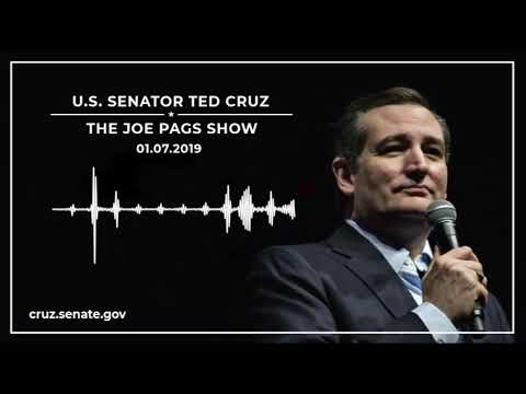 Sen. Cruz Discusses the EL CHAPO Act and Term Limits on The Joe Pags Show - January 7, 2019