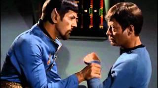 Mirror Spock mind-melding McCoy
