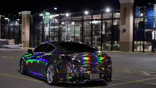 КЛАССНАЯ МУЗЫКА--holographic chrome vinyl car==COOL MUSIC