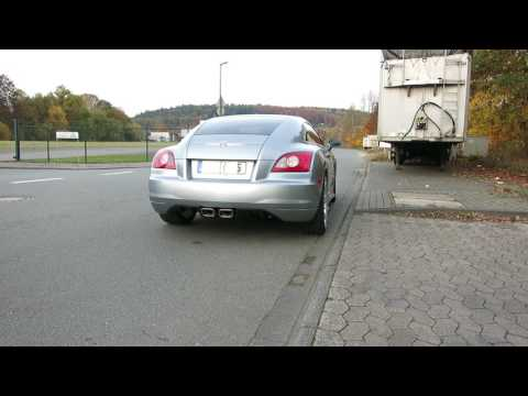 Super car video Chrysler Crossfire no muffler v6 sound