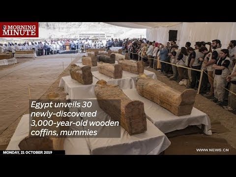 Egypt unveils 30 newly-discovered 3,000-year-old wooden coffins, mummies