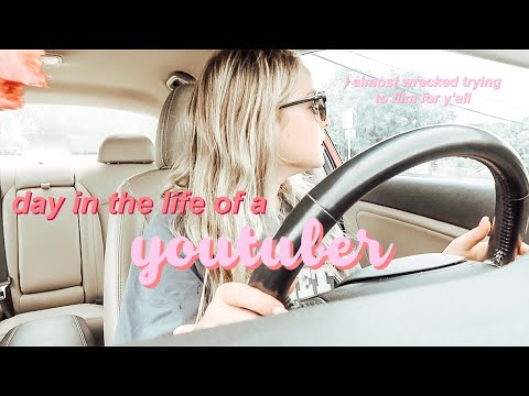 DAY IN THE LIFE AS A YOUTUBER *i almost wrecked*