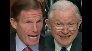 """WOULDN'T IT BE ILLEGAL???!!"" Richard Blumenthal BRILLIANTLY Grills Jeff Sessions on Donald Trump"