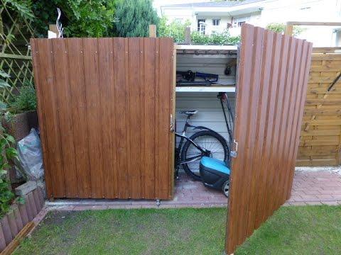 Geräteschuppen-Gartenbox oder Fahrradbox, selbstgebaut