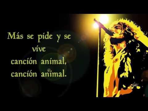 Soda Stereo - Canción Animal CON LETRA
