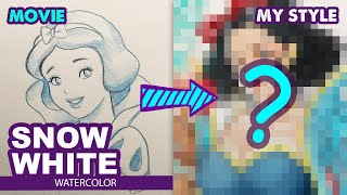 Drawing Princess Snow White As Game Character?!! Disney Fairy Tale | Huta Chan