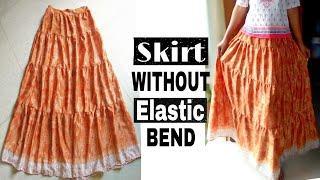 DIY Convert Old Saree Into a 4 Layer Skirt| Long Skirt Tutorial