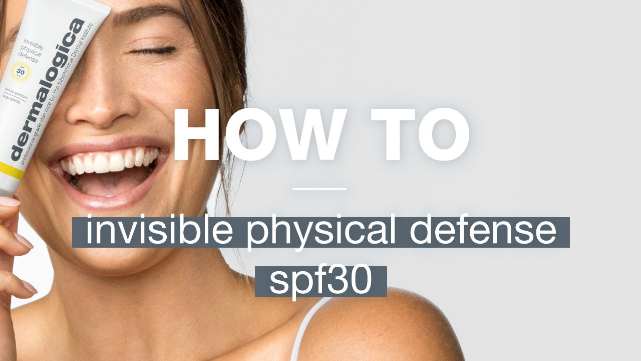 invisible physical defense spf30 video
