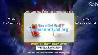 SDR Online Church Service - Sanctuary study and Testimony Service