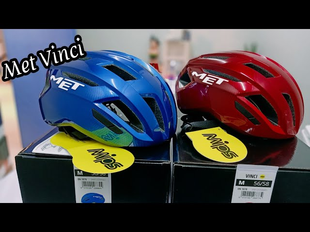 Видео Шлем велосипедный MET Vinci MIPS Red Metallic (glossy)