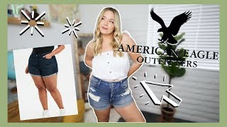 I TRIED ON ALL OF THE AMERICAN EAGLE CURVY SHORTS