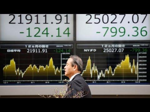 العرب اليوم - شاهد: تراجع أسواق البورصة العالمية إثر هبوط