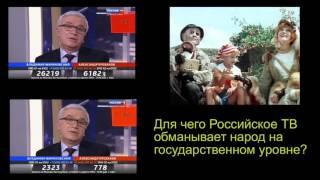 Как обманывает народ Российское телевидение