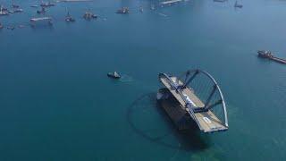 Budowa mostu stalowego o podwójnym łuku dla Cross Bay Link w Hongkongu