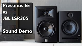 JBL LSR305 Vs Presonus Eris E5      Sound Demo