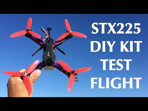 test-flight--$99-stx225-diy-version-fpv-racing-rc-drone-kit