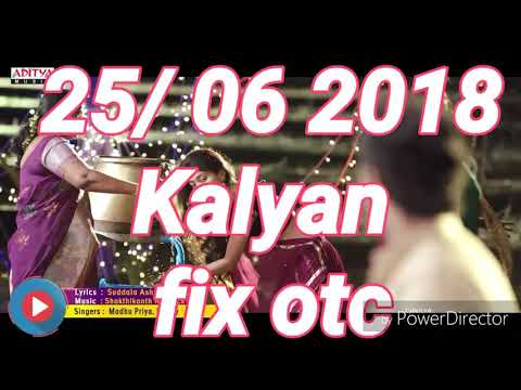 KALYAN FRIDAY 06/04/2018 OTC FIX ANK JODI BY SATTAMATKA FIXX