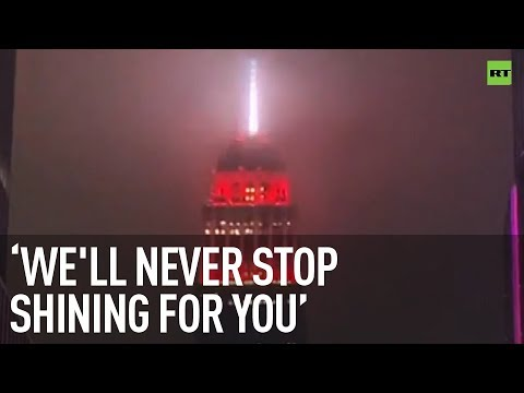 Empire State Building turns into a siren to honor emergency workers