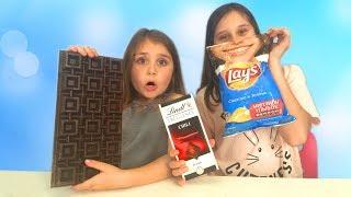 ЧИПСЫ против ШОКОЛАДА Челлендж! ОСТРЫЙ Чили-Шоколад или Горькие Чипсы к ПИВУ?! Gummy vs Real Food