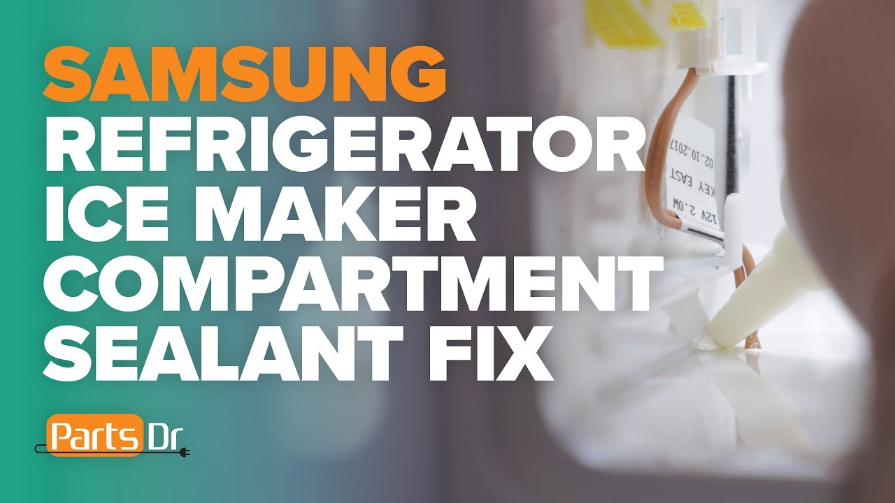 Step-by-step instructions on how to test your Samsung refrigerator ice maker compartment for air leaks and seal the ice maker compartment to help prevent excess frost or ice buildup in the ice maker compartment.