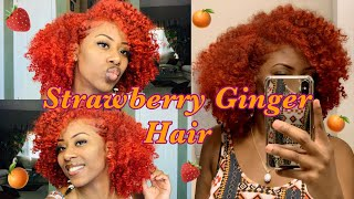 How I Got This Ginger/Bright Red/Strawberry Color🍓| I Dyed My Hair Strawberry Ginger | Frizzeecurlz♡