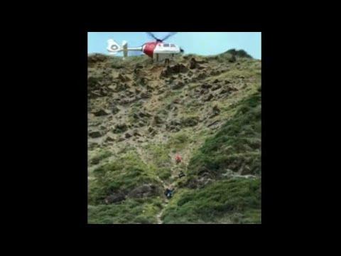 """Complicado Rescate helicóptero Ertzaintza por imprudencia en Orrua """"entre Getaria y Zumaia"""""""