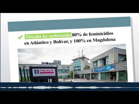 Fiscalía ha esclarecido 80% de feminicidios en Atlántico y Bolívar, y 100% en Magdalena